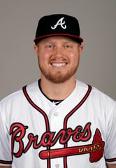 This is a 2019 photo of Corbin Clouse of the Atlanta Braves baseball team.