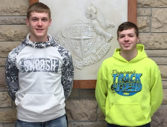 The Reedsville High School Students of the Month for February are Braiden Dvorachek and Austin Frank.