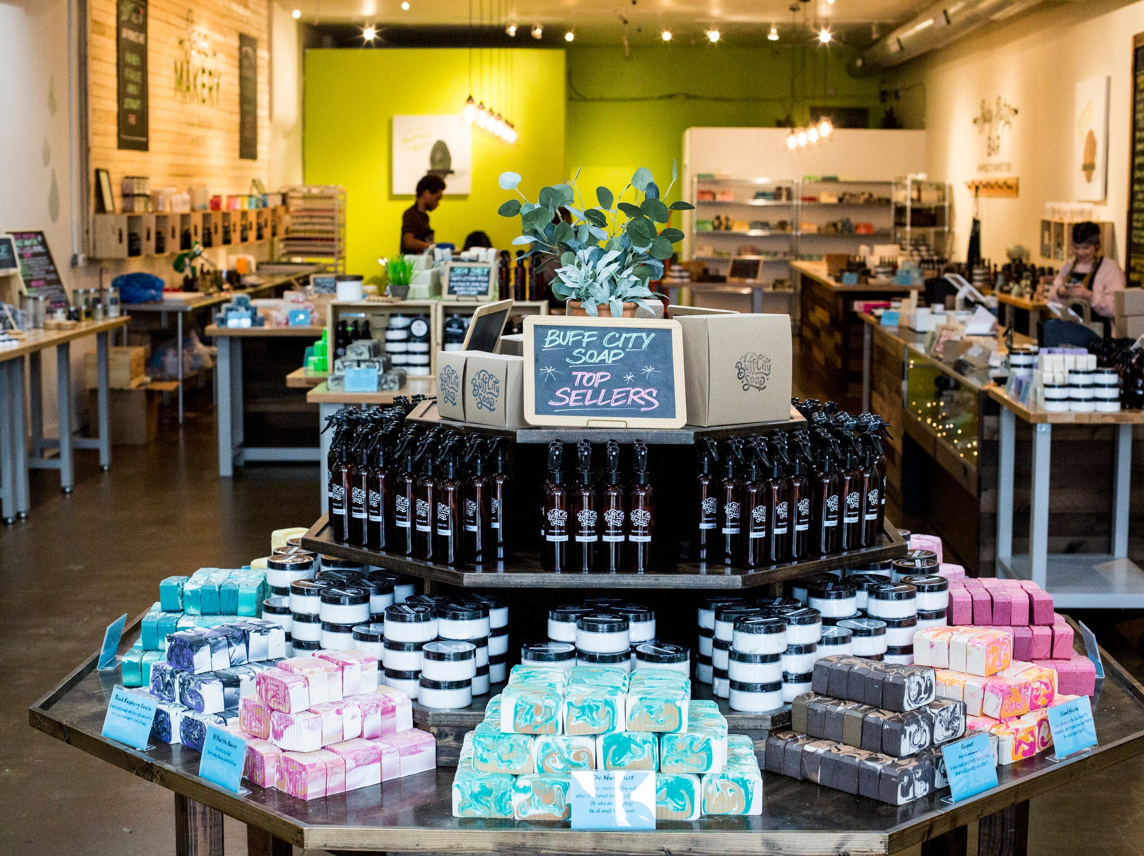 Buff City Soap offers a variety of soaps, bath bombs, scrubs and other bath and body products.