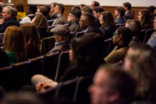 March 07, 2019 - The audience watches as Gov. Bill Lee speaks during his first State of West Tennessee address delivered at the University of Memphis Thursday night.