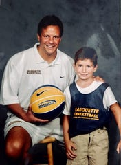 Cam Marotta attended Marquette basketball camps as a kid. He is shown with former MU coach Tom Crean.