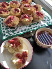 A teaspoon of cherry jam adds pizzazz to buttermilk muffins.