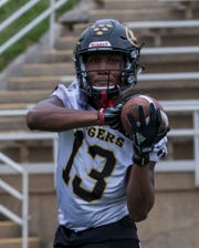 In three years at Grambling State, wideout Quintin Guice (13) has made 52 career receptions for 761 yards and five touchdowns.