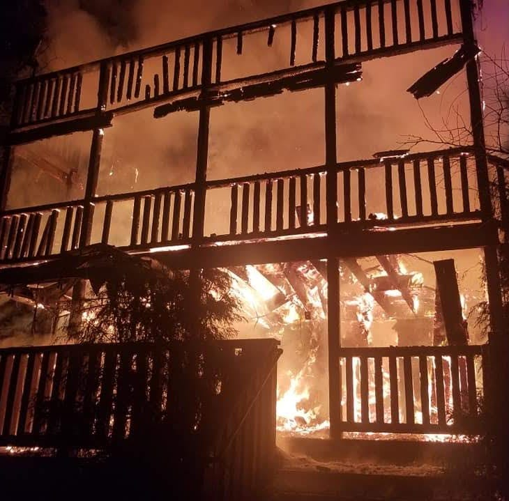 Overnight fire consumes Long Valley home