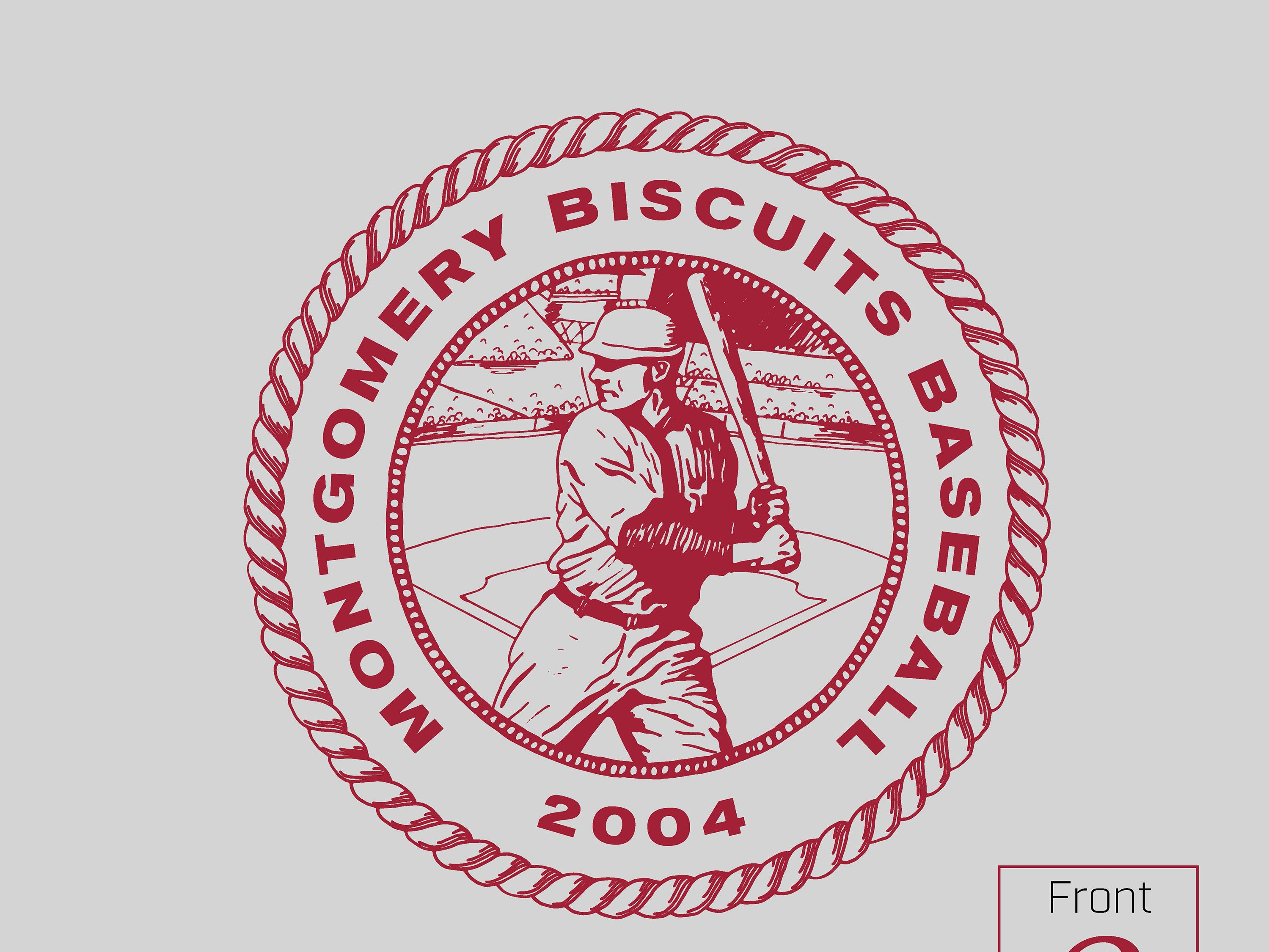 Montgomery Biscuits free t-shirt giveaway design for Tide Night on Thursday, July 18, 2019.