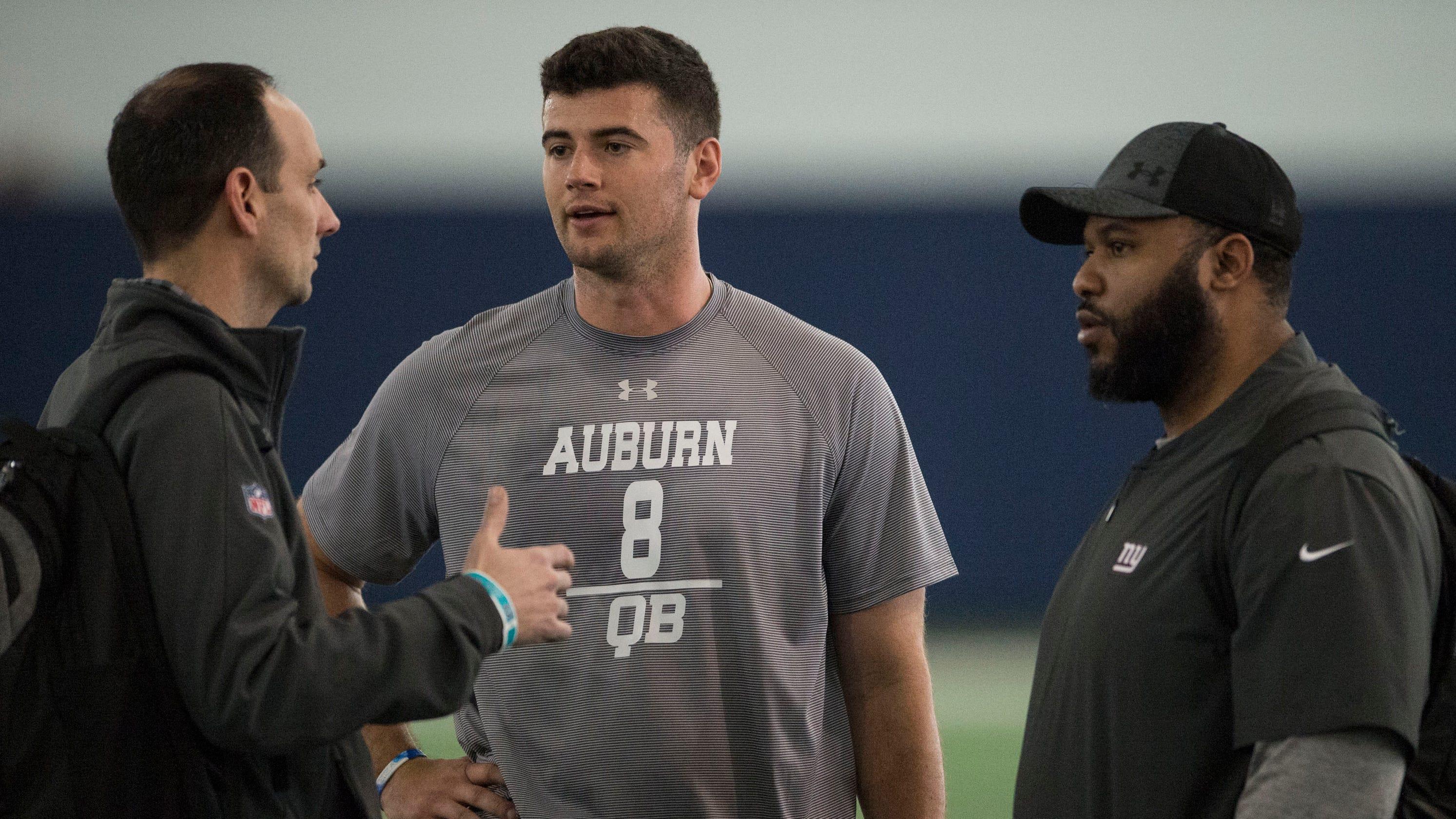 aa1f1f2e6 Former Auburn quarterback Jarrett Stidham raises NFL stock during pre-draft  process