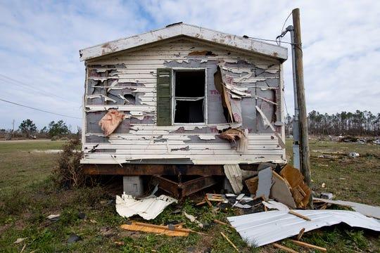 Tornado damage in Beauregard, Ala., on Friday March 8, 2019. A fatal tornado struck Beauregard on Sunday March 3, 2019.