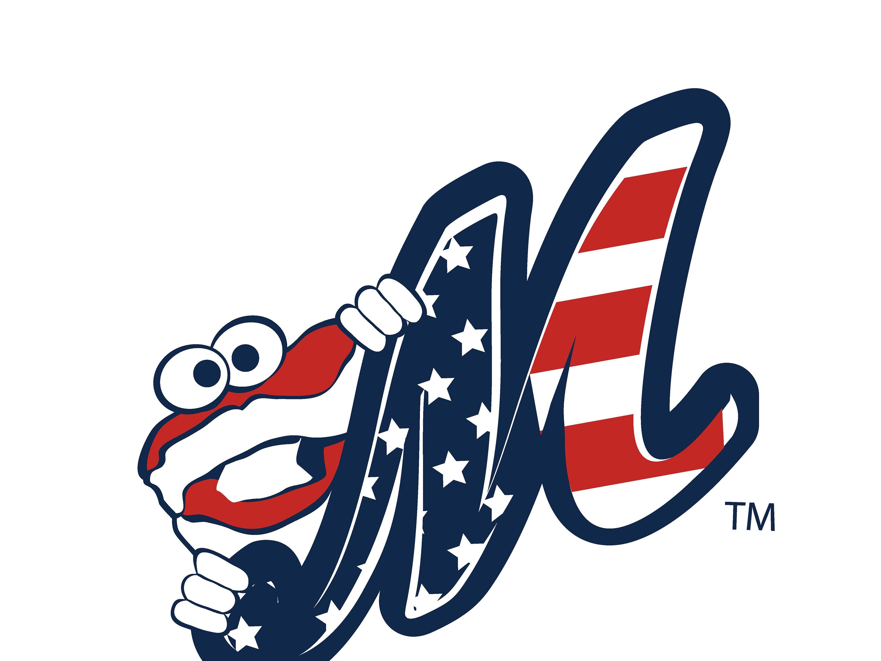 Montgomery Biscuits free t-shirt giveaway design for Independence Day on Thursday, July 4, 2019.