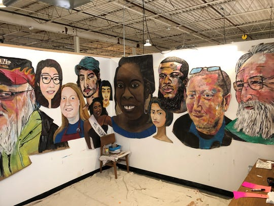 Since arriving to Muncie, Matt Litwin and Victoria Eidelsztein have painted several portraits that will be part of their local mural project.
