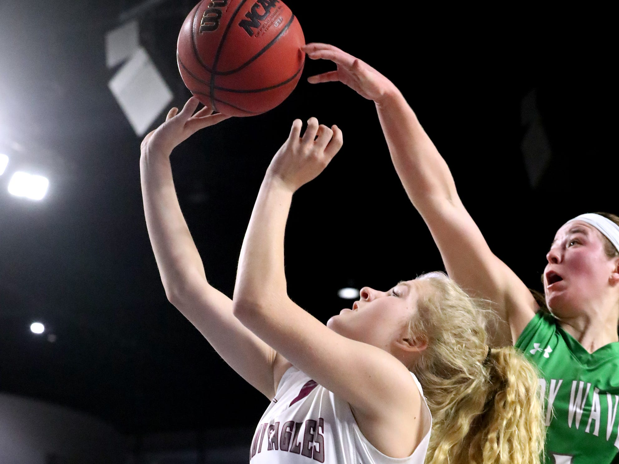 during the quarterfinal round of the TSSAA Div. 1 Class A Girls State Tournament, on Thursday, March 7, 2019, at Murphy Center in Murfreesboro, Tenn.