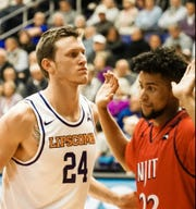 Garrison Mathews helped lead Lipscomb against NJIT in the semifinals of the Atlantic Sun tournament at Allen Arena Thursday night.