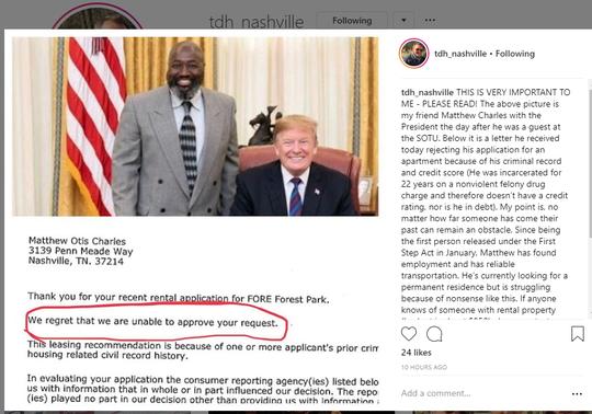Tim Hardiman's Instagram post on March 7, 2019.