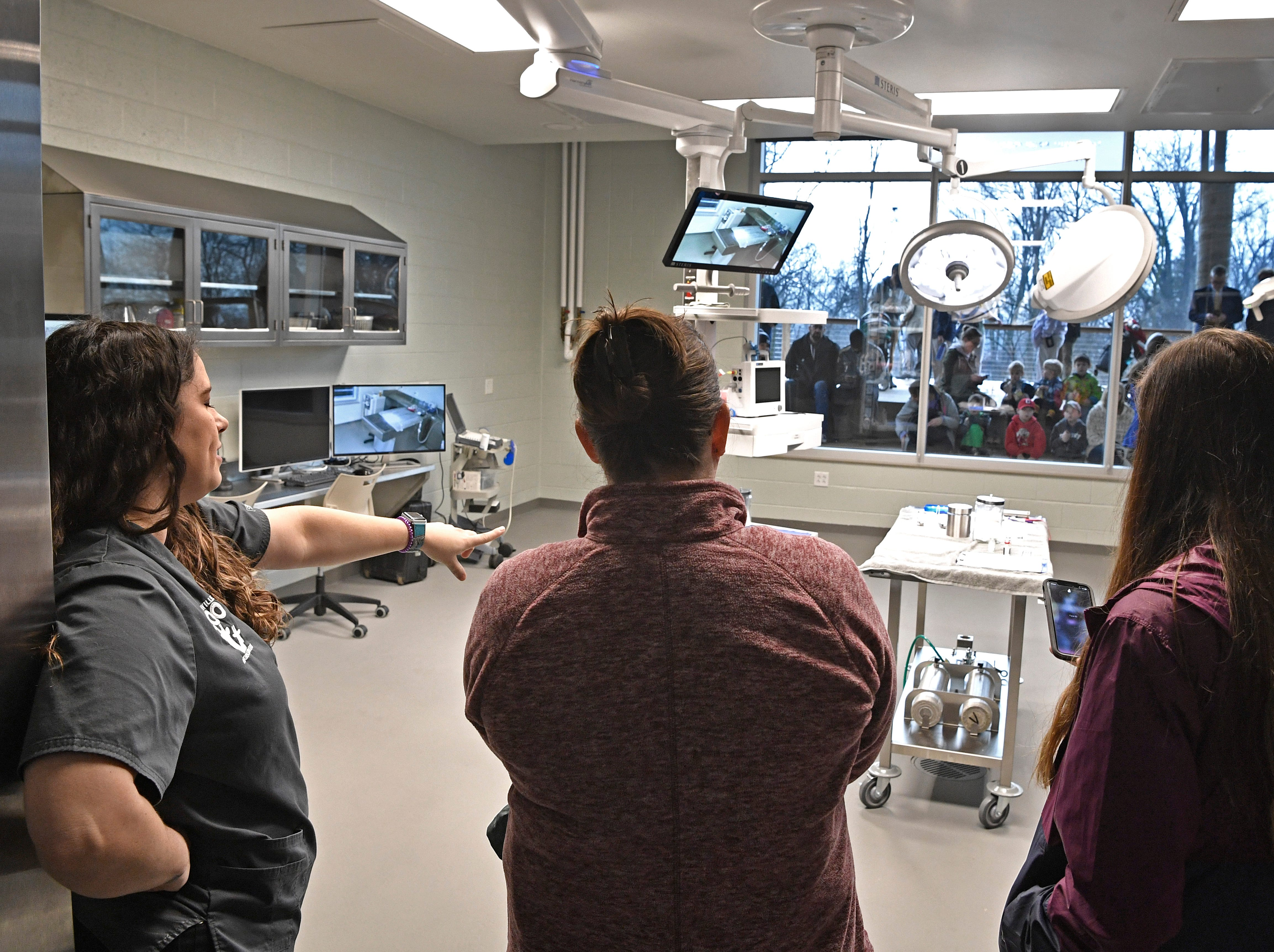 Visitors took a tour of the new 23,000 square-foot HCA Healthcare Veterinary Center at the Nashville Zoo.