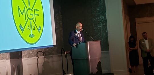 Former NFL coach Tony Dungy spoke about his Christian faith at the Men's Golf Fellowship banquet at Pelican Bay in Naples on Thursday.