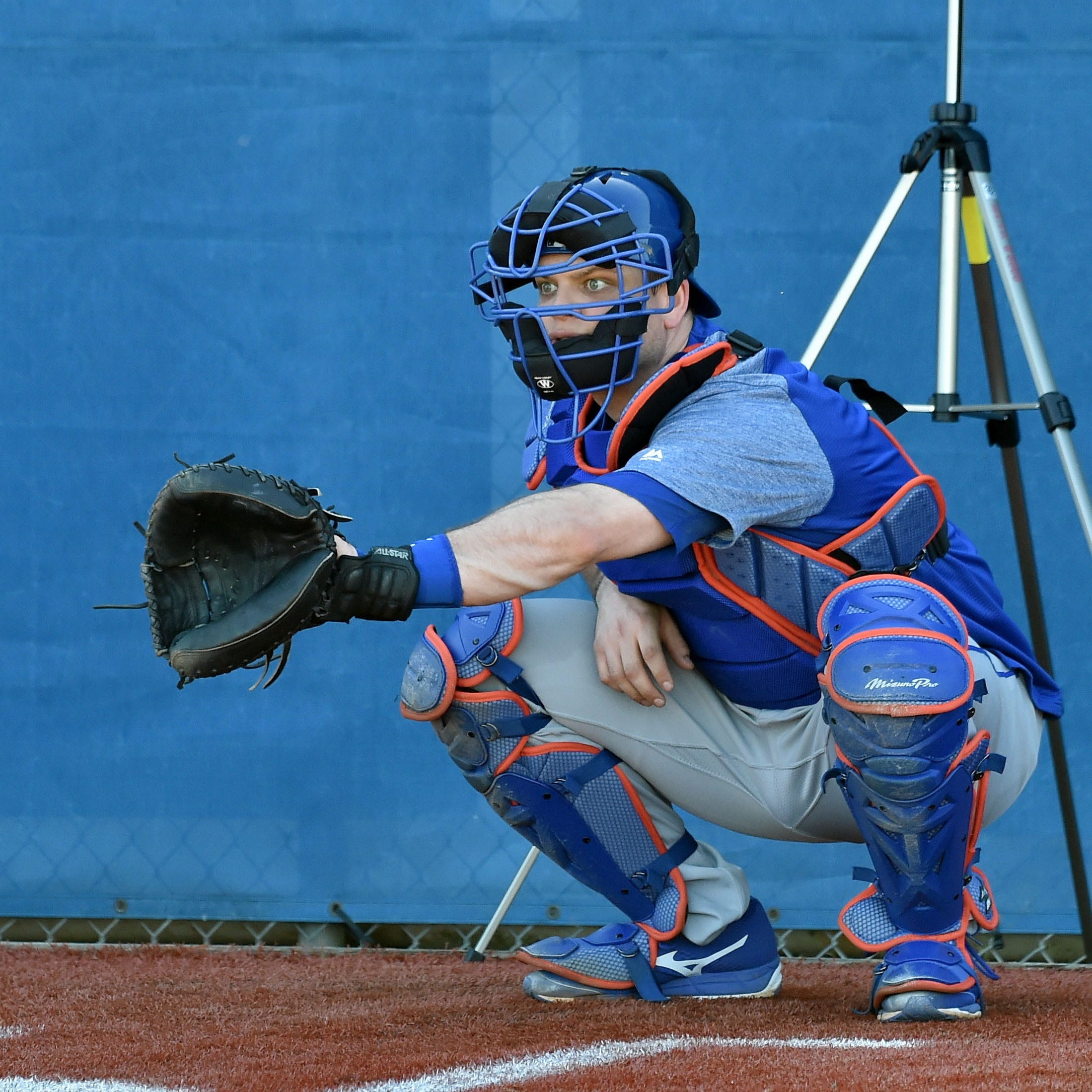 New York Mets catcher Devin Mesoraco (29) during spring training at First Data Field on Feb. 15, 2019 in Port St. Lucie, Fla.