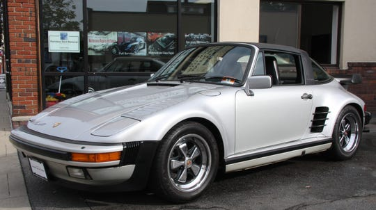 A rare Porsche 911 Turbo Targa with a factory slant-nose conversion sold on March 8, 2019 at International Autosport, a car dealership on Wanaque Avenue in Pompton Lakes that specializes in high-end and exotic used cars.
