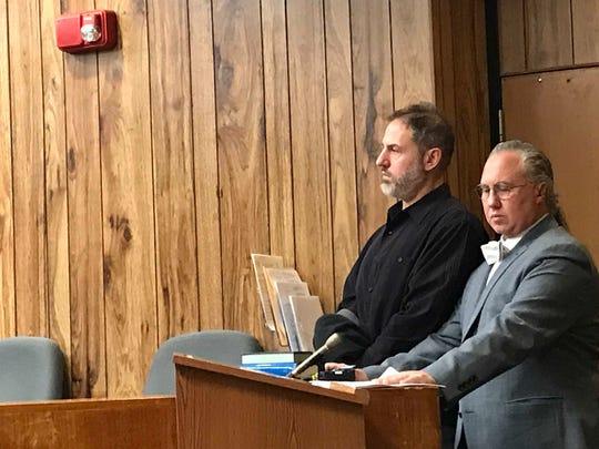 Mark Joroff ( L ) with his attorney, Harley Breite in Superior Court on Friday.