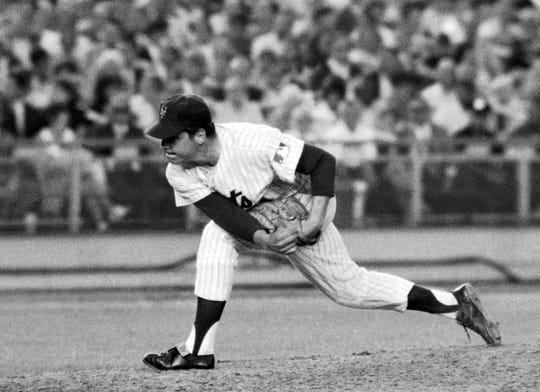 In this July 9, 1969, file photo, New York Mets right-handed pitcher Tom Seaver makes a second-inning delivery against the Chicago Cubs at New York's Shea Stadium where he hurled a one-hitter in a 4-0 victory. Seaver has been diagnosed with dementia and has retired from public life. The family of the 74-year-old made the announcement Thursday, March 7, 2019, through the Hall and said Seaver will continue to work in the vineyard at his home in California.