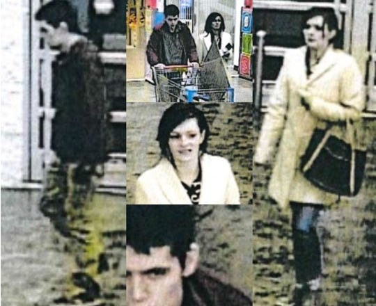 The Las Cruces Police Department released surveillance photos of a couple suspected of stealing cell phones from the Walmart on Valley in December 2018.