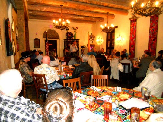 Otero County Commissioner Couy Griffin was the guest speaker at the March 4 meeting of the Republican Party of Doña Ana County held at La Posta in Mesilla. Griffin is the founder and leader of Cowboys for Trump.