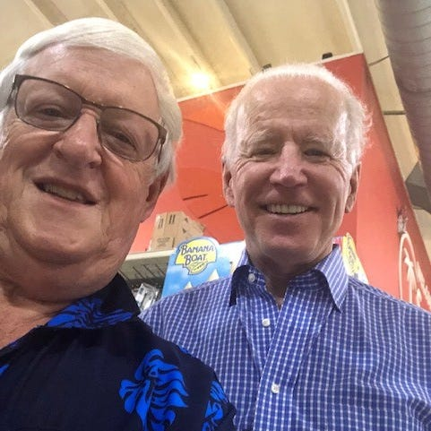 Former mayor of South Lyon meets former VP Joe Biden while grocery shopping in St. Croix