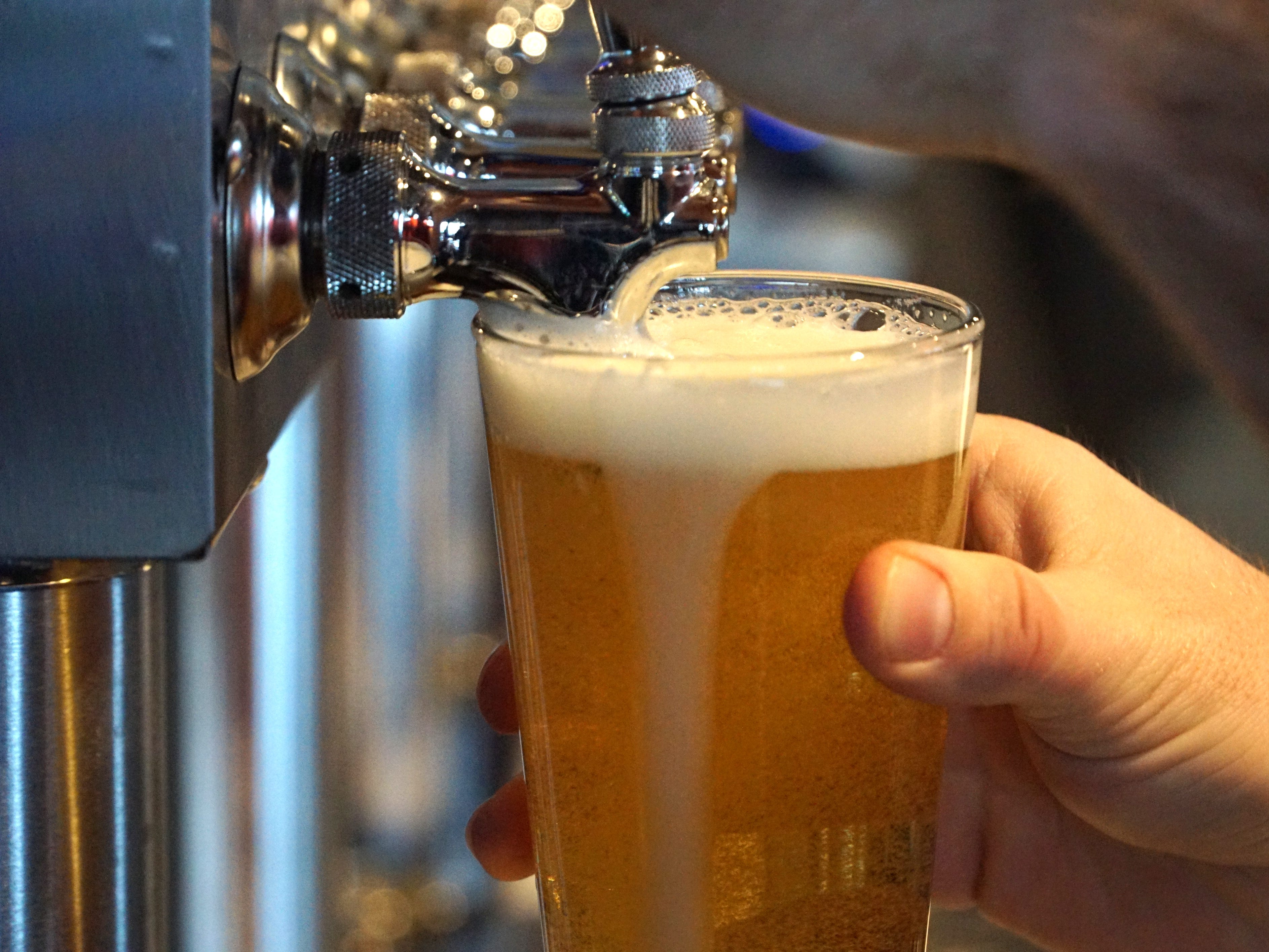 5th Avenue has a small but respectable number of craft brews on tap.