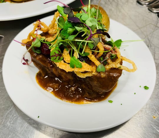The slow braised beef short ribs at Wally's Desert Turtle in Stadium 2 of the Indian Wells Tennis Garden in March 2019.