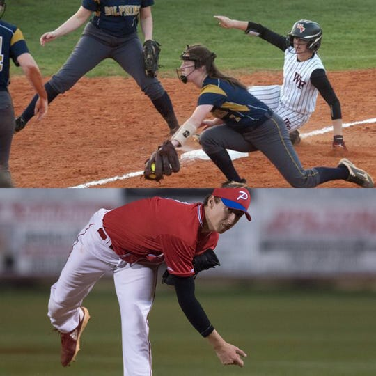 West Florida's Amanda Klemm and Pace's Brandon Sproat won PNJ Softball and Baseball Player of the Week Honors.