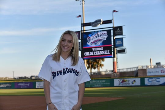 Pace's Chloe Channell once performed the national anthem at Blue Wahoos Stadium. Now she's sworn to secrecy as to the result of her American Idol audition.