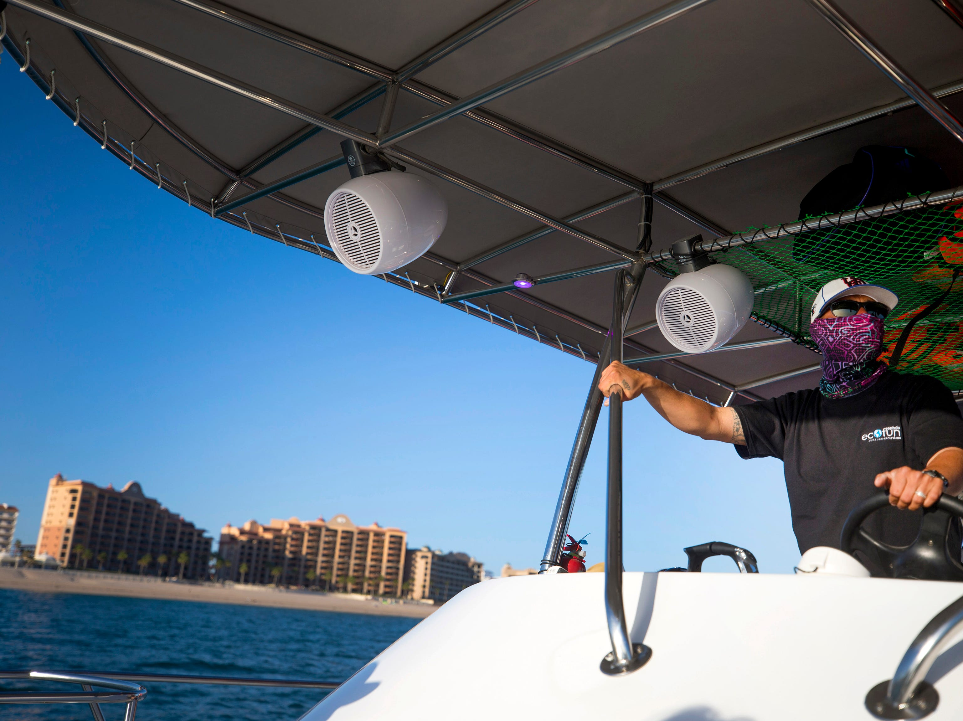 Eco Fun Captain Irving Lopez takes guests out on a sunset cruise in Puerto Penasco, Mexico.