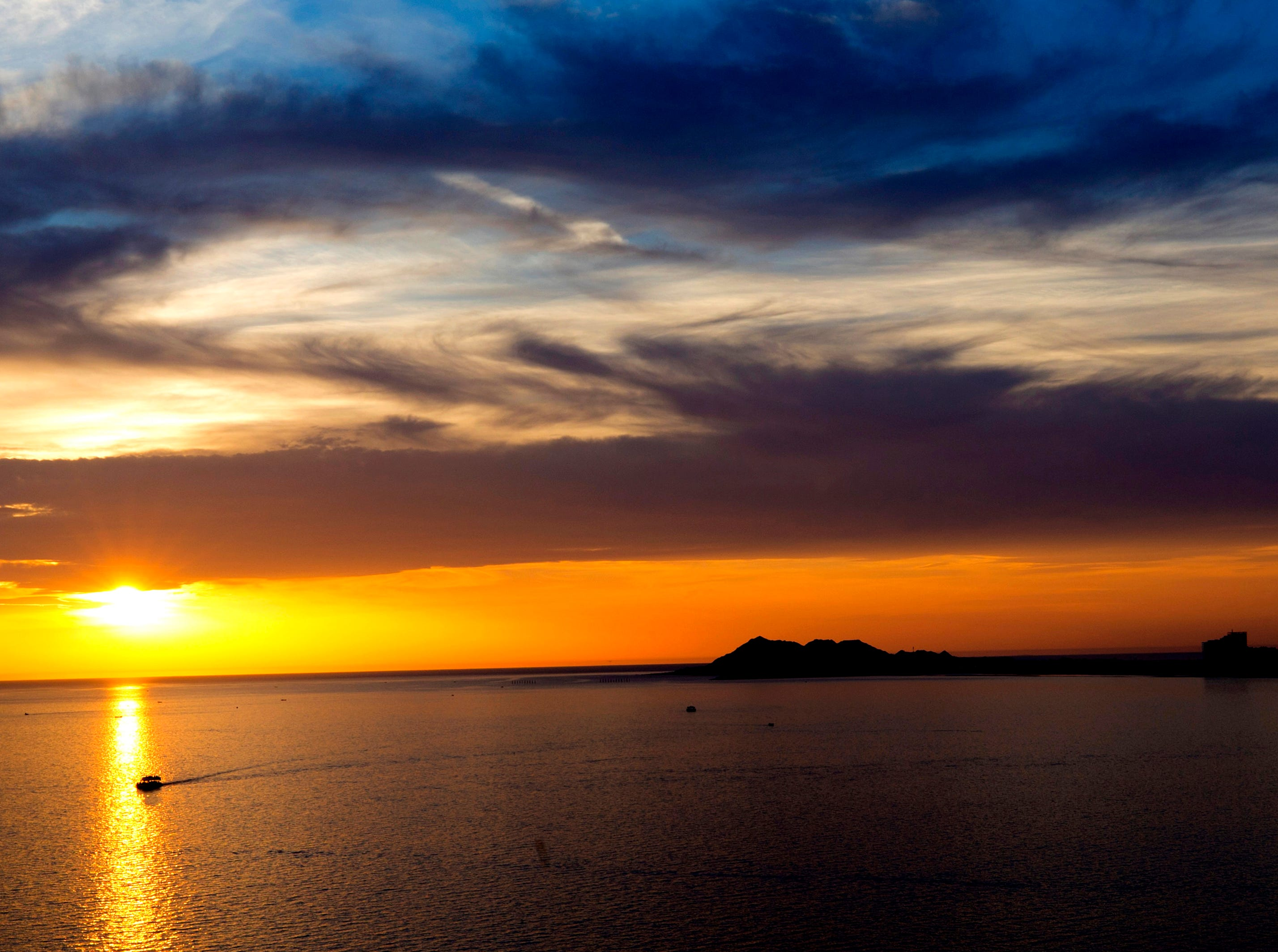One of the best places to see a sunset over the Sea of Cortez is from La Casa del Capitan in Puerto Penasco, Mexico.