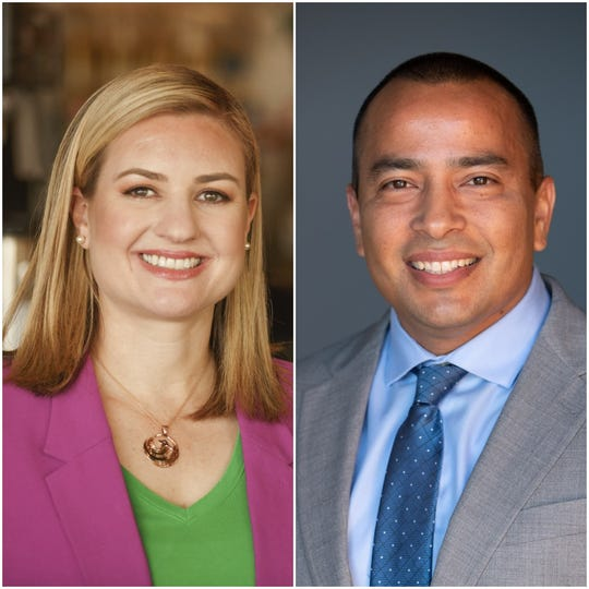 Phoenix mayoral candidates Kate Gallego and Daniel Valenzuela