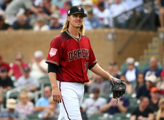 """""""If it makes a lot of sense to do a lefty/righty platoon, then, I mean, I like scoring runs,"""" Zack Greinke said when asked about catcher preference."""