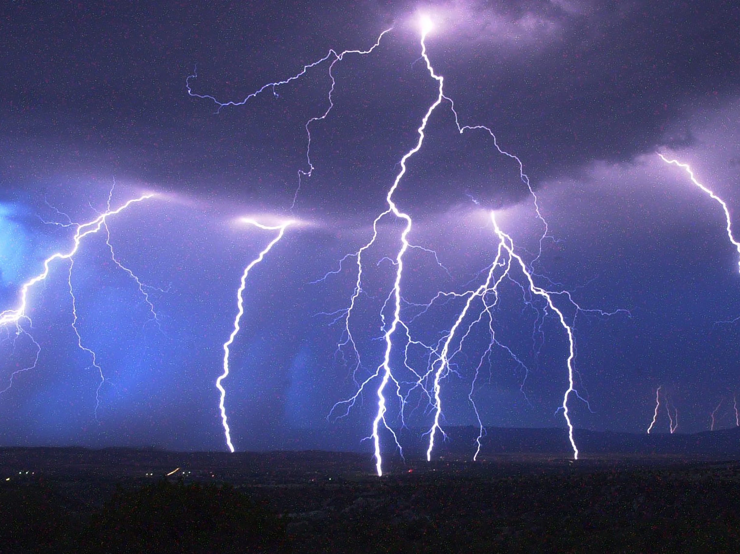 A huge electrical storm passes through Verde Valley on April 2, 2000.