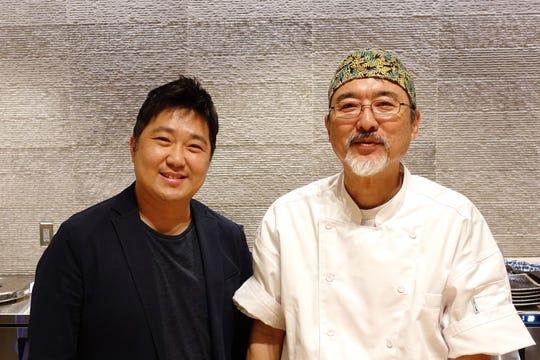 Restaurateur Hyunwook Lee (left) and chef Shinji Kurita (right), of ShinBay in Scottsdale.