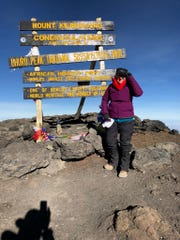 Betty Schley, 73, at the top of Mt. Kilimanjaro in February 2019. Schley is a nurse at Banner Thunderbird Medical Center in Glendale.