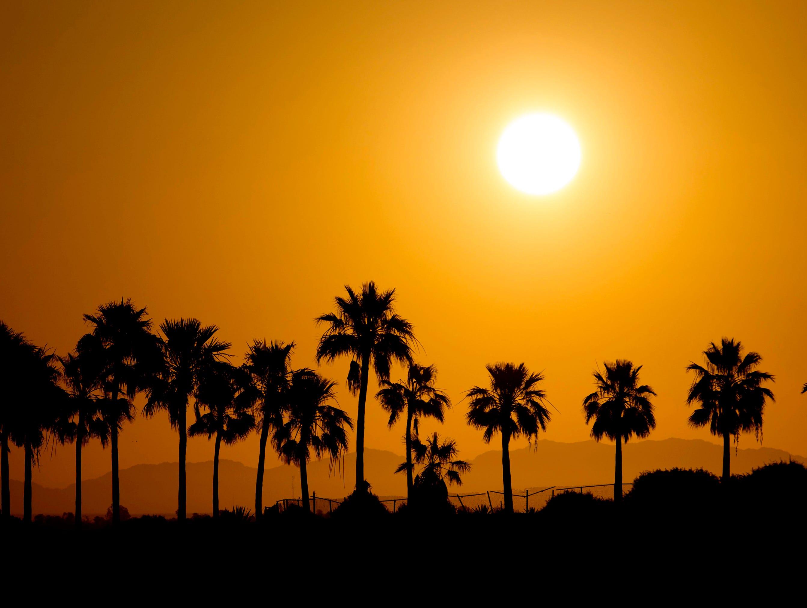 The sun rises near Sandy Beach in Puerto Penasco, Mexico.
