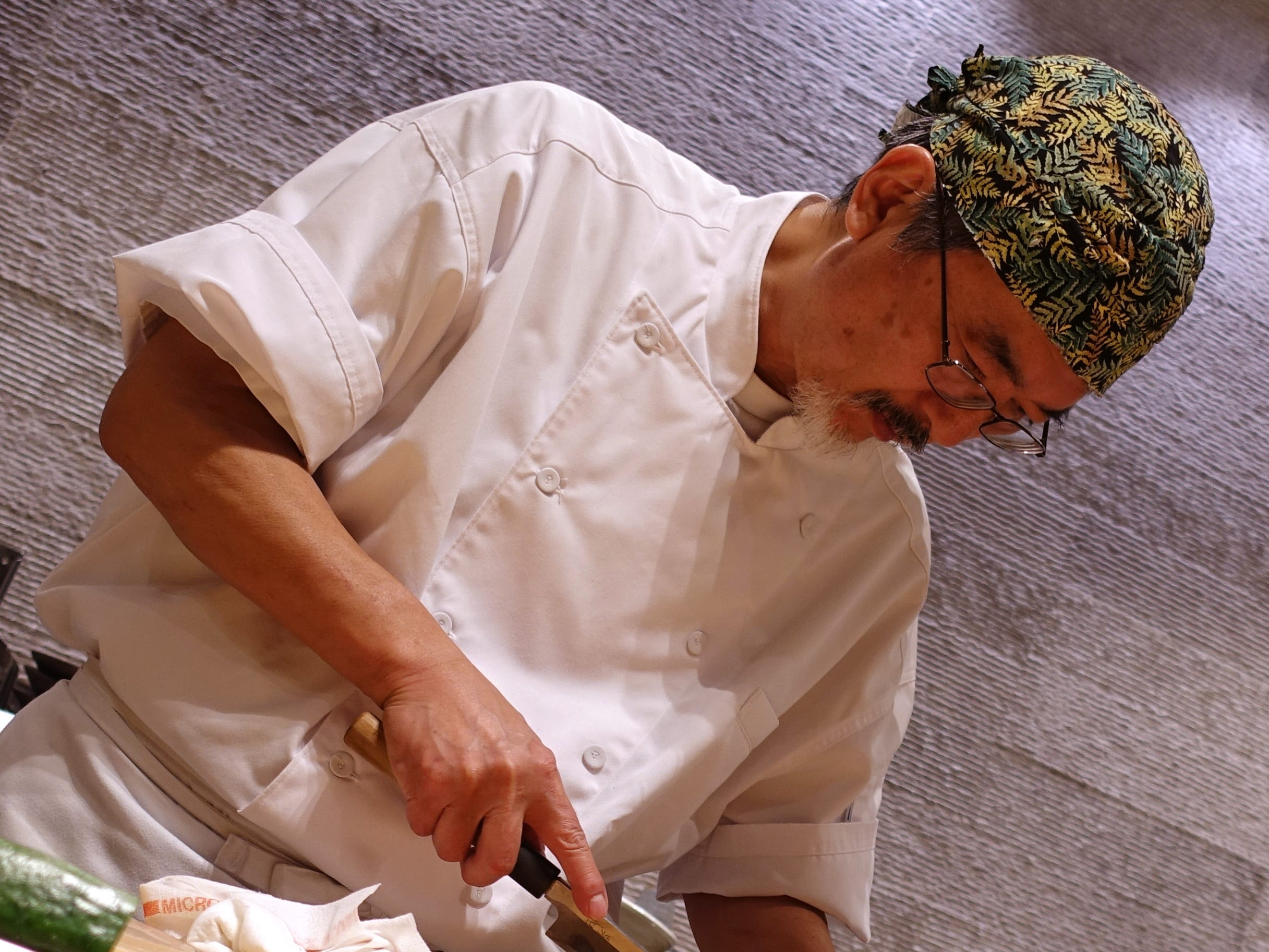 Chef Shinji Kurita prepares nigiri sushi at ShinBay in Scottsdale.