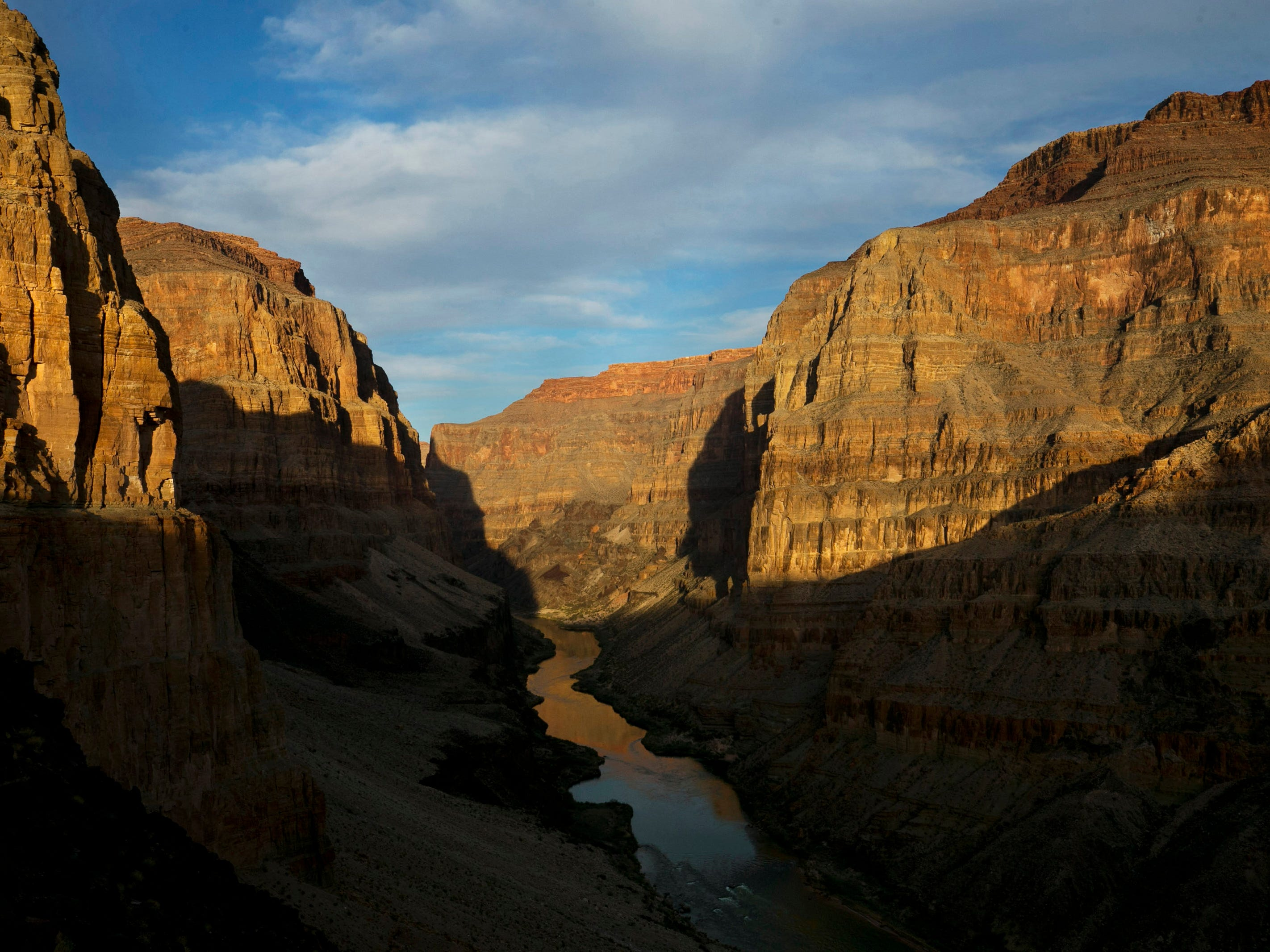 The view of the Colorado River the western part of Grand Canyon National Park on February 26, 2018.