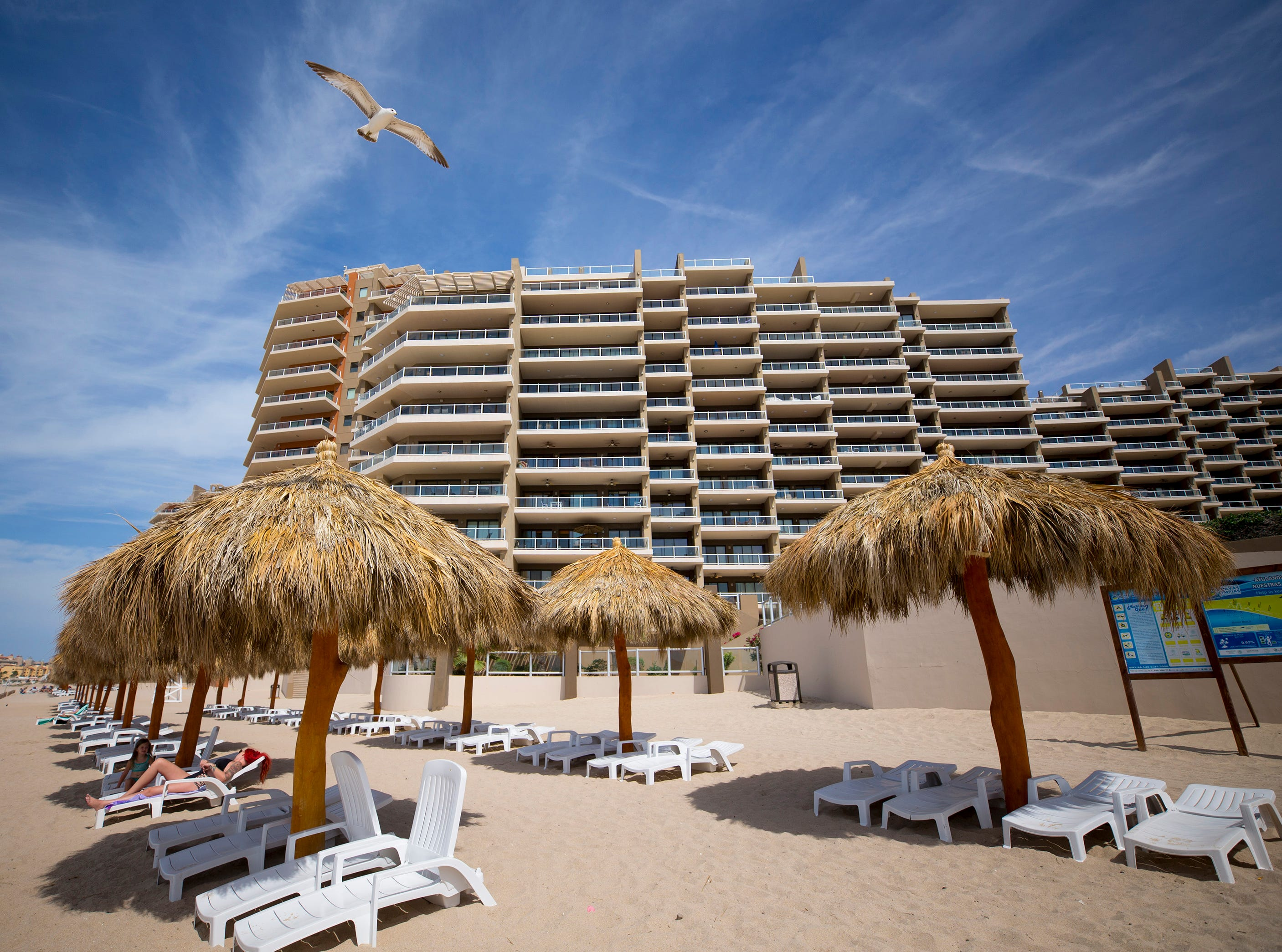 Las Palomas Beach and Golf Resort is ocean front property with views of the Sea of Cortez in Puerto Penasco, Mexico.