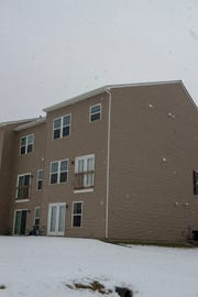 A piece of metal went through the roof of this townhouse on Rannoch Lane in Spring Garden Township on Friday, March 8, 2019 and ended up in the master bedroom.