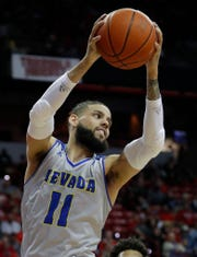 Nevada's Cody Martin plays against UNLV on Jan. 29 in Las Vegas. Nevada won 87-70.