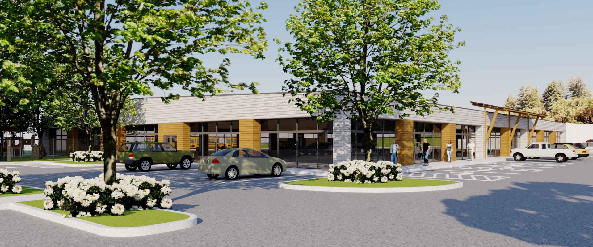 A rendering of the future Family Resource and Child Development Center, run by Catholic Community Services, that will be located off Portland Road NE in Salem. The center is expected to have a partial opening in August, 2019, with a full opening in January, 2020.