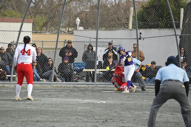 Salinas catcher Nevaeh Piñon (22) has been one of the Cowboys' most reliable producers from the plate for her three-year varsity career.
