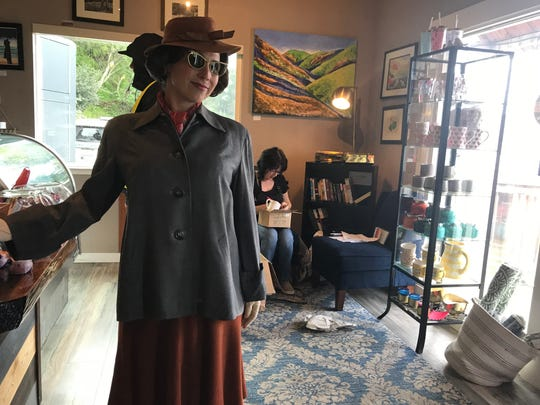 Carmel resident and 'Ratched' extra Cora Molthen poses in her 1940s-era costume.