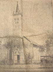 The first Catholic church in downtown San Angelo was dedicated as Immaculate Conception Parish, situated at the northeast corner of Beauregard Avenue and Chadbourne Street. It was the first stone church in town, and stood until 1906.