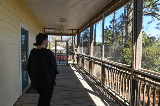 Cora Johnston, site director, gives a tour of the University of Virginia's Anheuser-Busch Coastal Research Center in Oyster on Thursday, March 7, 2019.