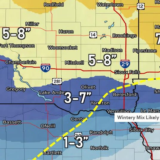 Sioux Falls weather: When 'significant storm' could hit this weekend