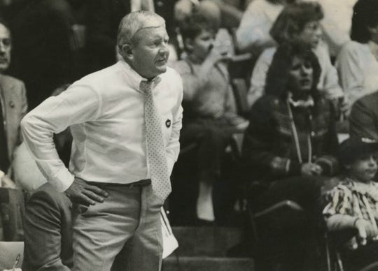 Coach Charlie Spoonhour, March 15, 1990
