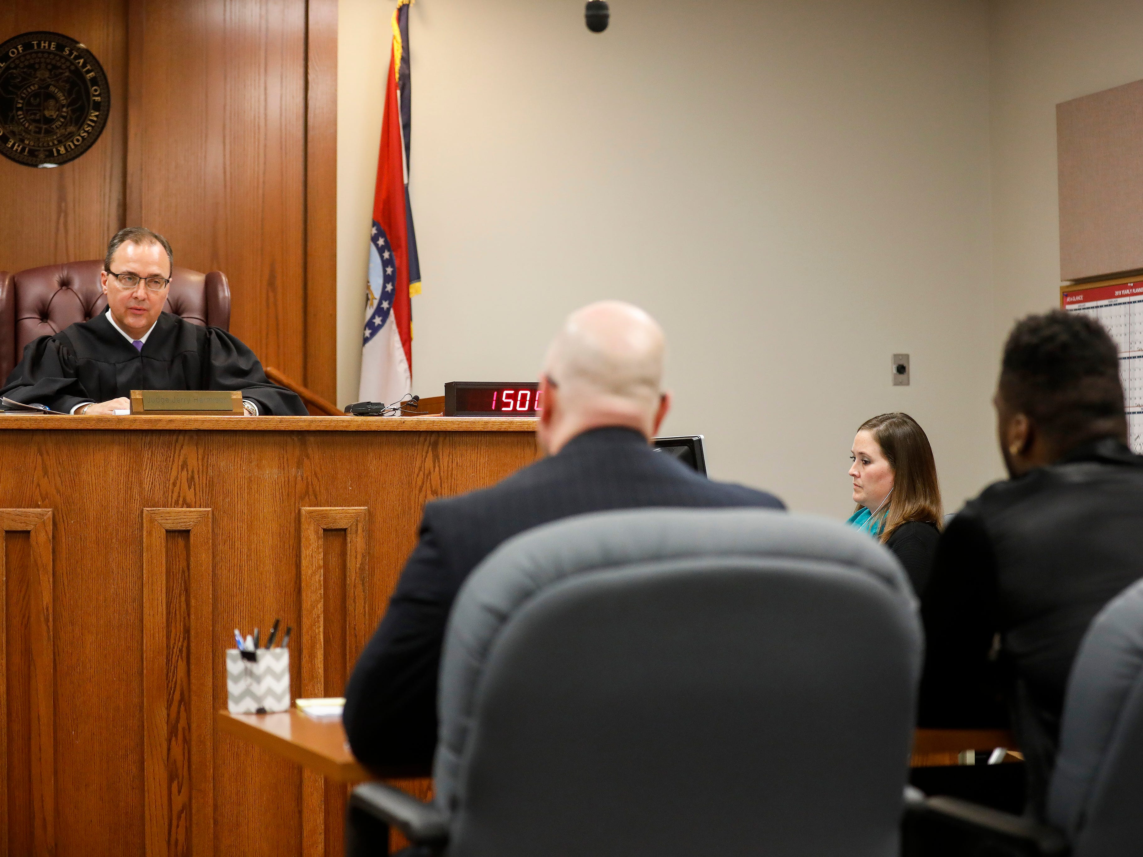 Judge Jerry Harmison delivers the sentence for Dorial Green-Beckham during a probation violation hearing in a prior DWI case on Friday, March 8, 2019.